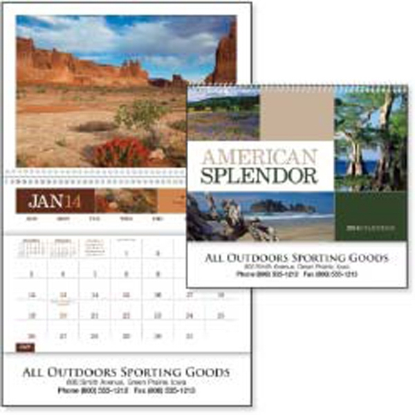 American Splendor - 2015 Calendar. 12 Beautiful Photographs And A Convenient Storage Pocket Each Month Photo
