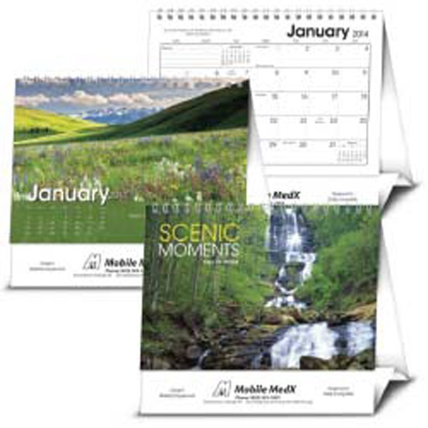 Scenic Moments - Large 2015 Desk Calendar With Scenes From North America Photo