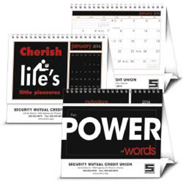 The Power Of Words - Inspirational Quotes Speak For Themselves On This Unique 2015 Motivational Calendar Photo