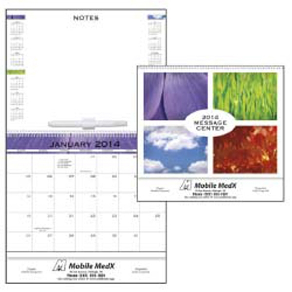 2015 Message Center Calendar With Write-on/wipe-off Message Board Photo
