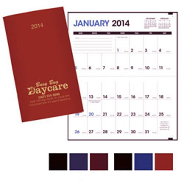 2015 Monthly Pocket Planner. Horizontal Date Pad Format Photo
