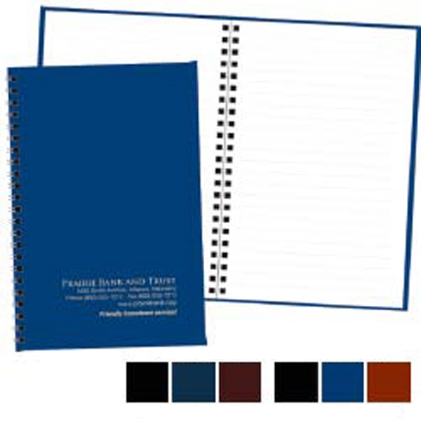 "Classic Notebook With A Leatherette Cover, 100 Pages, Opens To 12"" X 9"" Photo"