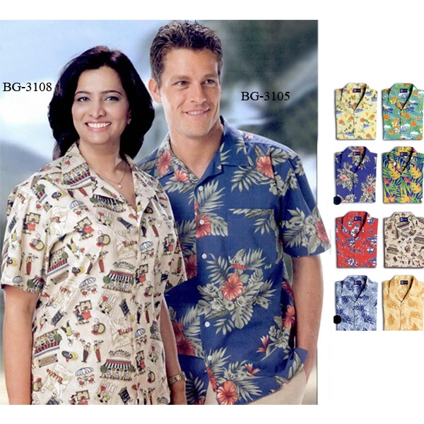 Adult Print Camp Shirts