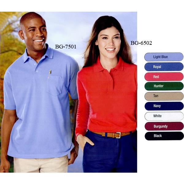 Adult Short Sleeve Pique with Pocket