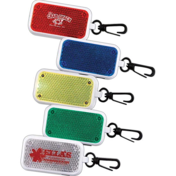 Reflective Flashing Clip-on Safety Light. Imprinted Photo
