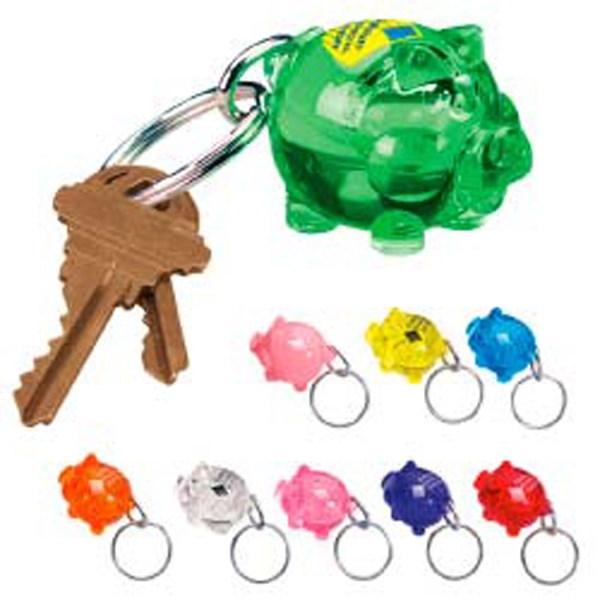 The Bank'r - Plastic Key Tag Molded In The Shape Of A Pig Photo