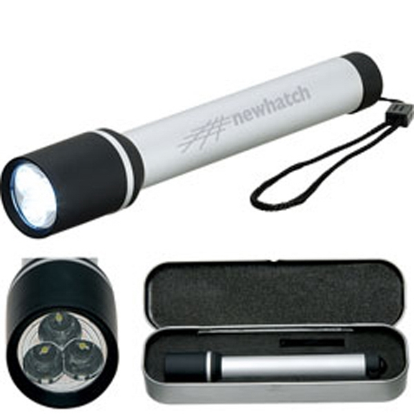 Daedalus - Led Flashlight With Elegant Rubberized Accents And 3 Ultra-bright Led Bulbs Photo