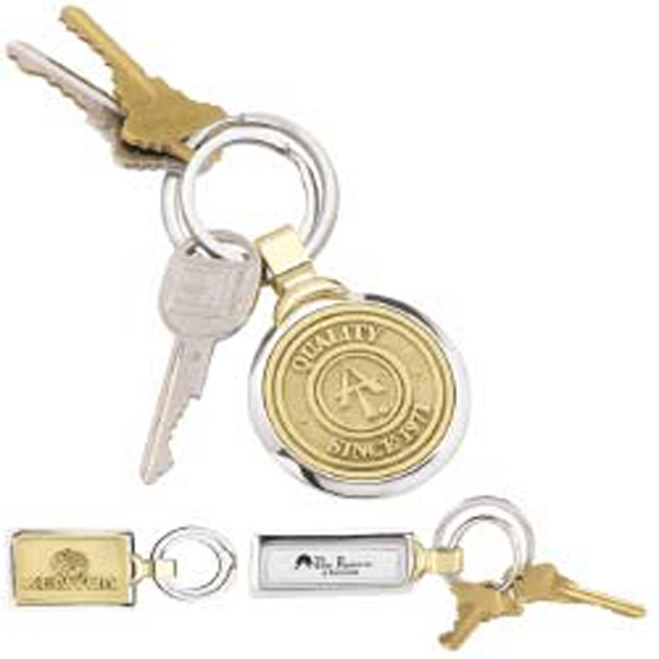 Two Tone Brass Key Tag Photo