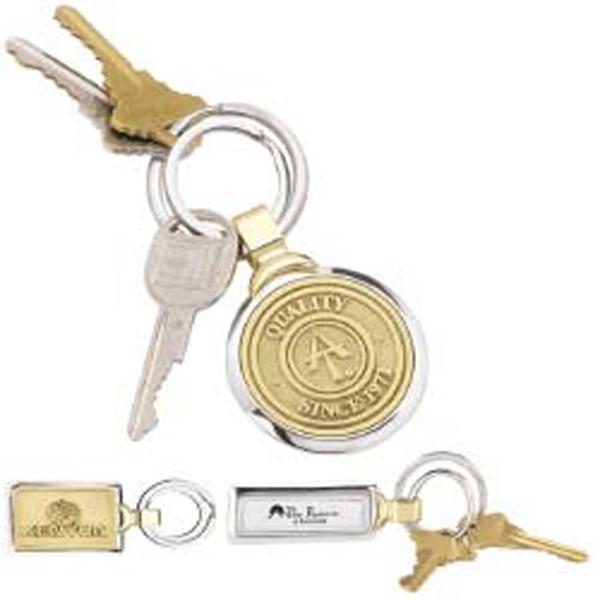 Two-tone Brass Key Tag