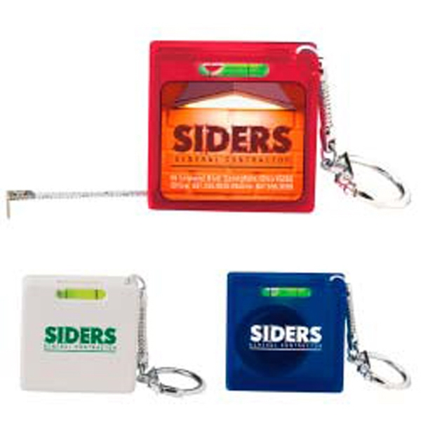 Square 3' Tape Measure Key Holder With Level Photo