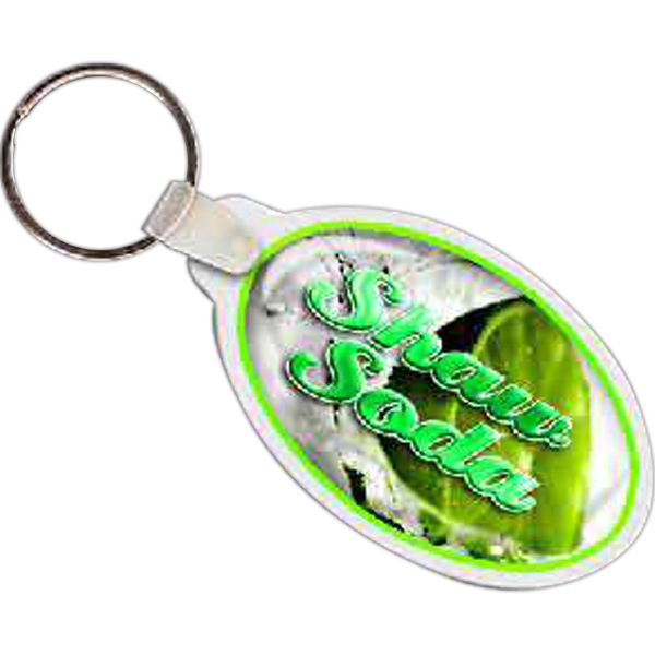"2.87"" X 1.64"" - Oval Shaped Key Tag Photo"