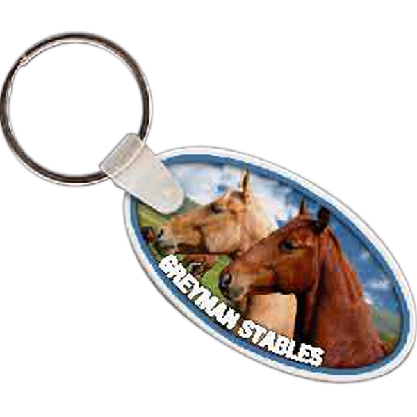 "2.25"" X 1.25"" - Oval Shaped Key Tag Photo"