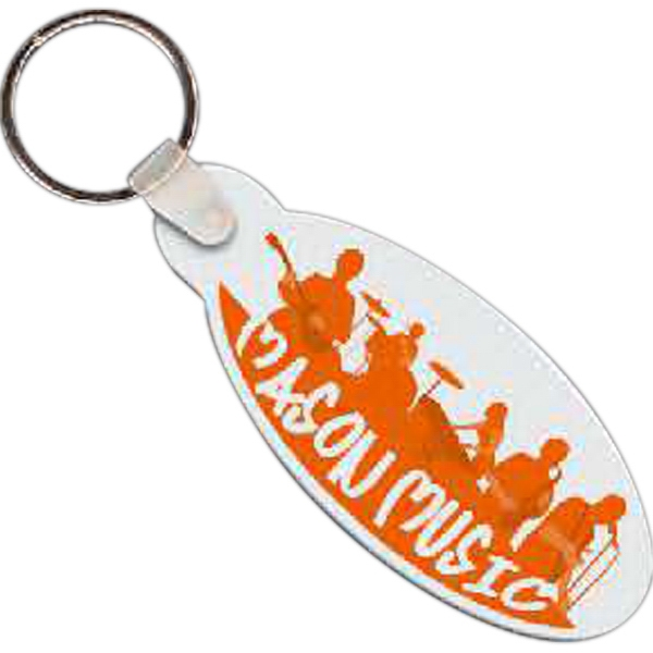 "2.75"" X 1.25"" - Oval Shaped Key Tag Photo"