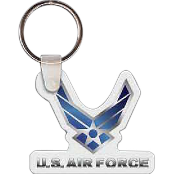 "Air Force Logo Key Tag, 2.05"" W X 1.76"" H Photo"