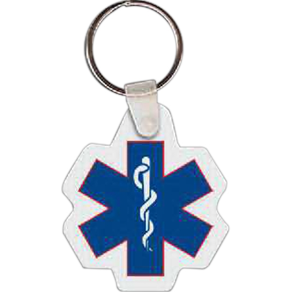 "1.8"" X 2.08"" - Caduceus Shaped Key Tag Photo"