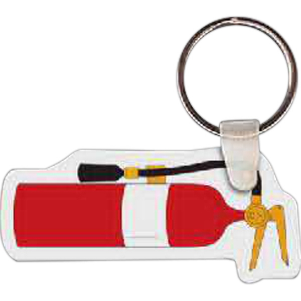 "2.6"" X 1.2"" - Fire Extinguisher Shaped Key Tag Photo"