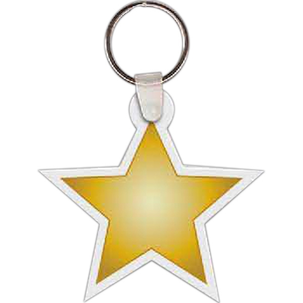 "2.375"" X 2.375"" - Star Shaped Key Tag Photo"