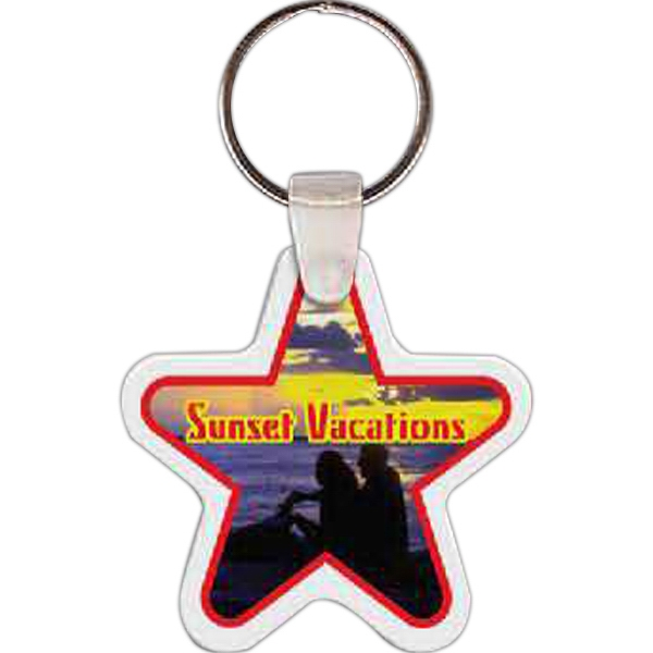 "2.04"" X 2.08"" - Star Shaped Key Tag Photo"