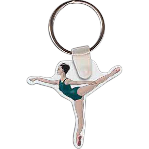 "Ballerina Shaped Key Tag, 1.8"" W X 1.72"" H Photo"