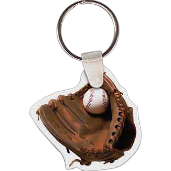 "Baseball And Mitt Shaped Key Tag, 1.89"" W X 1.8"" H Photo"