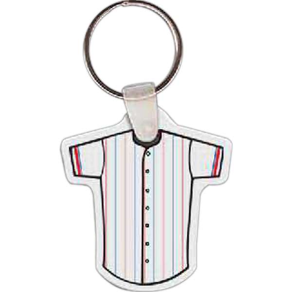"Baseball Jersey Shaped Key Tag, 1.8"" W X 1.97"" H Photo"