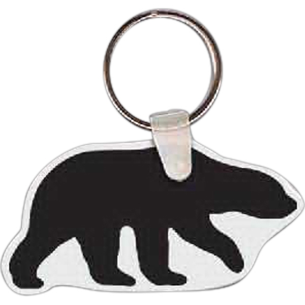 "Bear Shaped Key Tag, 2.66"" W X 1.40"" H Photo"