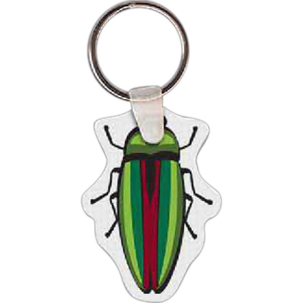 "Beetle Shaped Key Tag, 1.5"" W X 2.08"" H Photo"