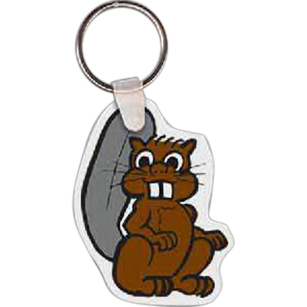 "1.85"" X 2.4"" - Beaver Shaped Key Tag Photo"