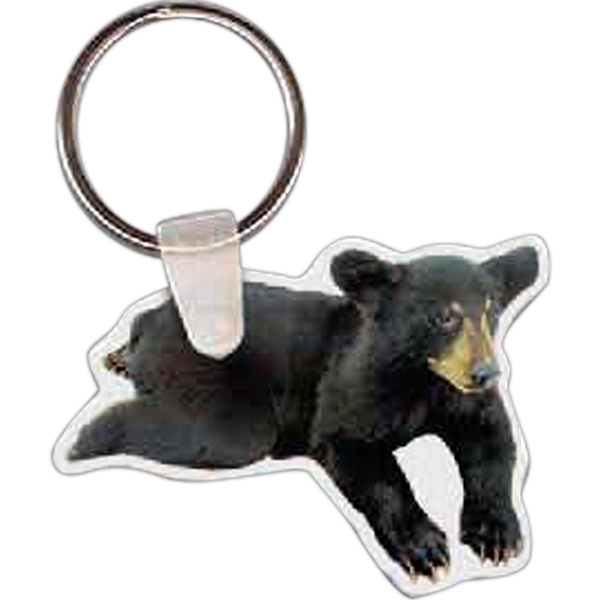 "Bear Cub Shaped Key Tag, 2.1"" W X 1.53"" H Photo"