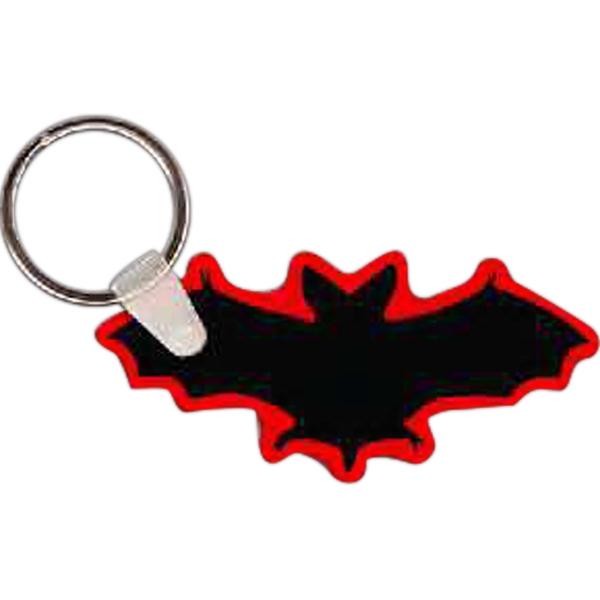 "Bat Shaped Key Tag, 2.85"" W X 1.34"" H Photo"