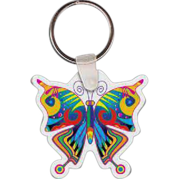 "1.90"" X 1.82"" - Butterfly Shaped Key Tag Photo"