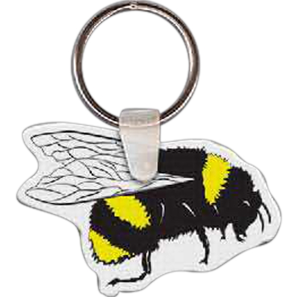 "Bee Shaped Key Tag, 2.2"" W X 1.44"" H Photo"