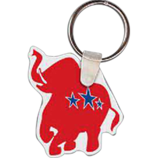 "1.63"" X 1.93"" - Elephant Shaped Key Tag Photo"