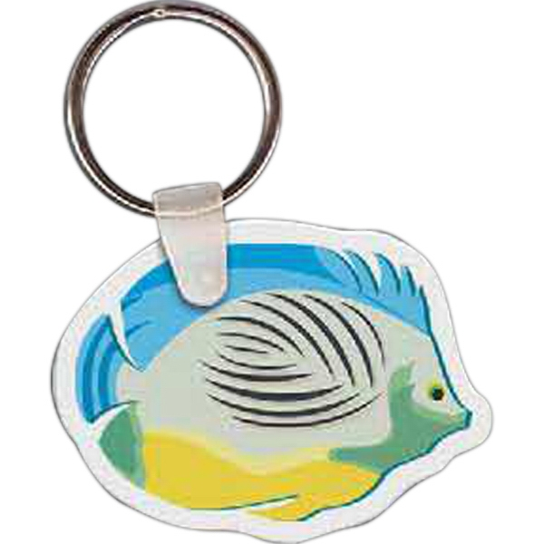 "2.16"" X 1.6"" - Fish Shaped Key Tag Photo"