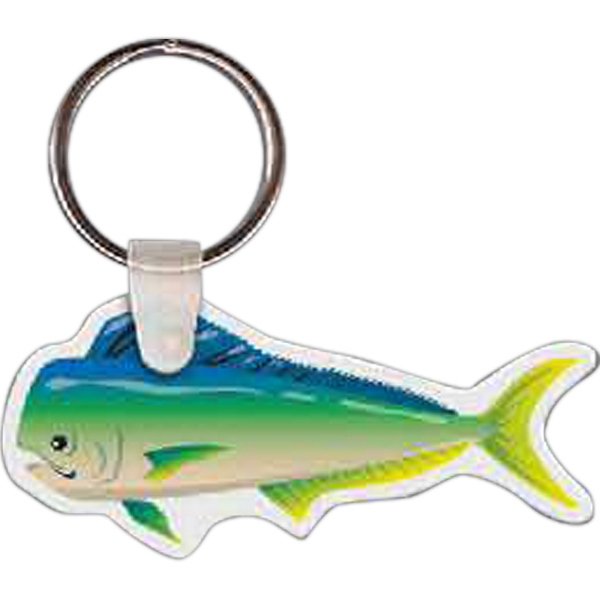 "2.67"" X 1.24"" - Fish Shaped Key Tag Photo"