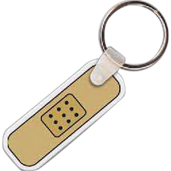 "Full Color On White Item - Full Color Bandage Shaped Key Tag, 1.8"" W X .125"" H Photo"
