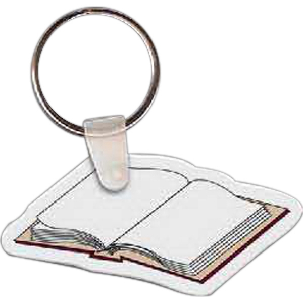 "2.47"" X 1.24"" - Book Shaped Key Tag Photo"