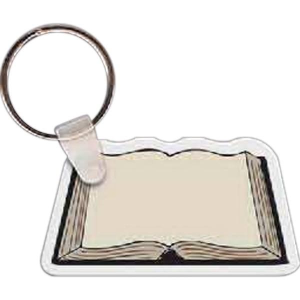 "2.35"" X 1.25"" - Book Shaped Key Tag Photo"