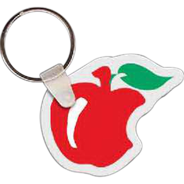 "Apple With Bite Shaped Key Tag, 2"" W X 1.7"" H Photo"