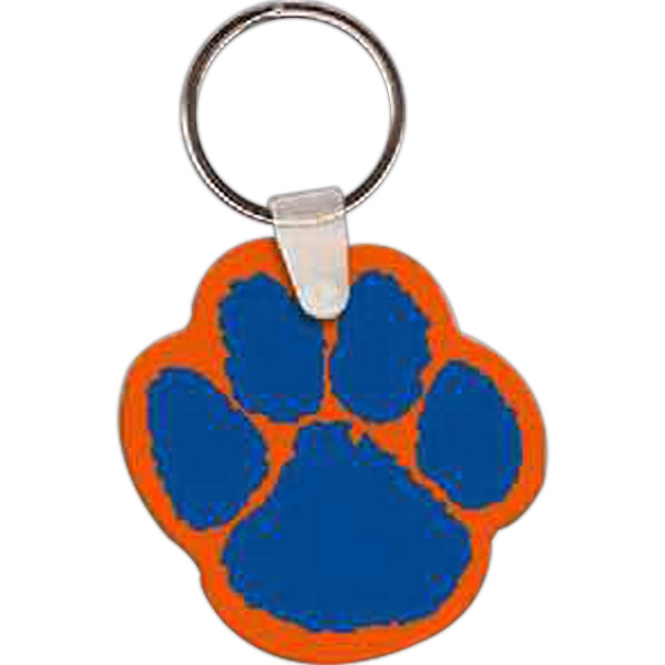 "Paw Shaped Key Tag, 1.99"" W X 2.01"" H Photo"