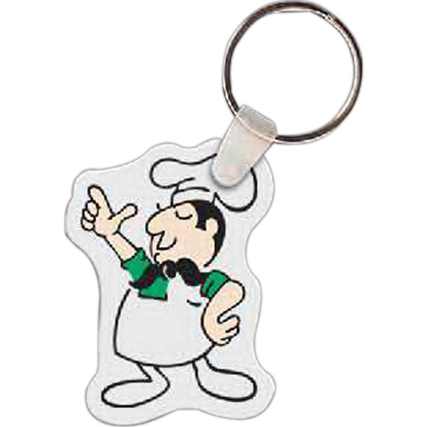 "1.55"" X 2.12"" - Chef Shaped Key Tag Photo"