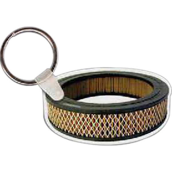 "Air Filter Shaped Key Tag, 2.34"" W X 1.4"" H Photo"