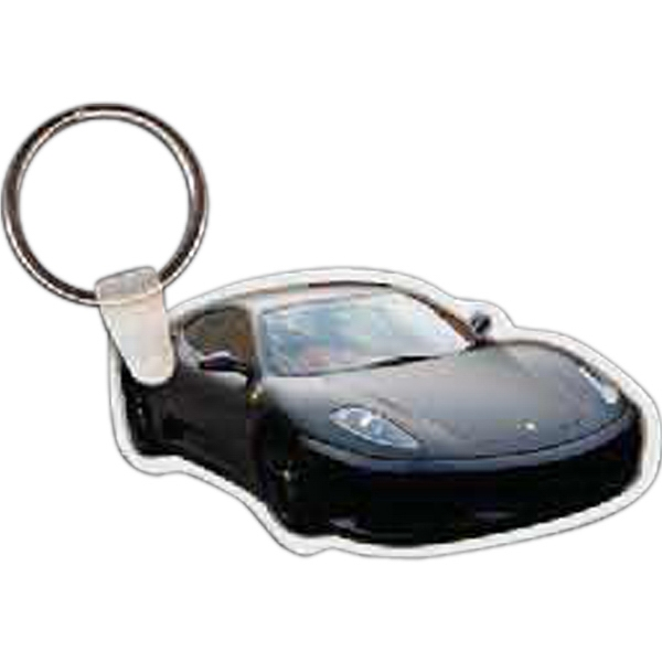 "2.88"" X 1.51"" - Car Shaped Key Tag Photo"
