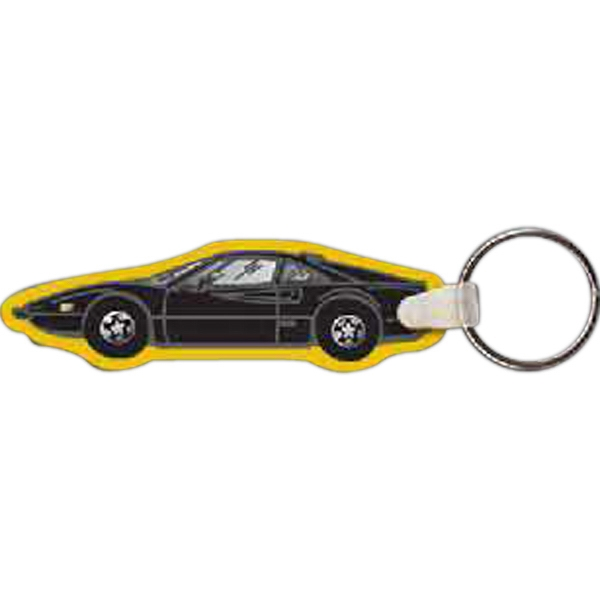 "3.33"" X 1.01"" - Car Shaped Key Tag Photo"