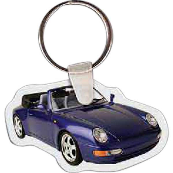 "2.35"" X 1.37"" - Car Shaped Key Tag Photo"