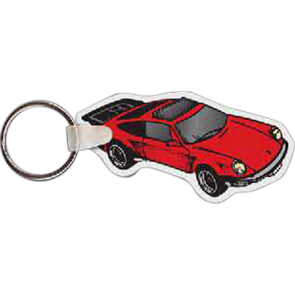 "2.87"" X 1.5"" - Car Shaped Key Tag Photo"