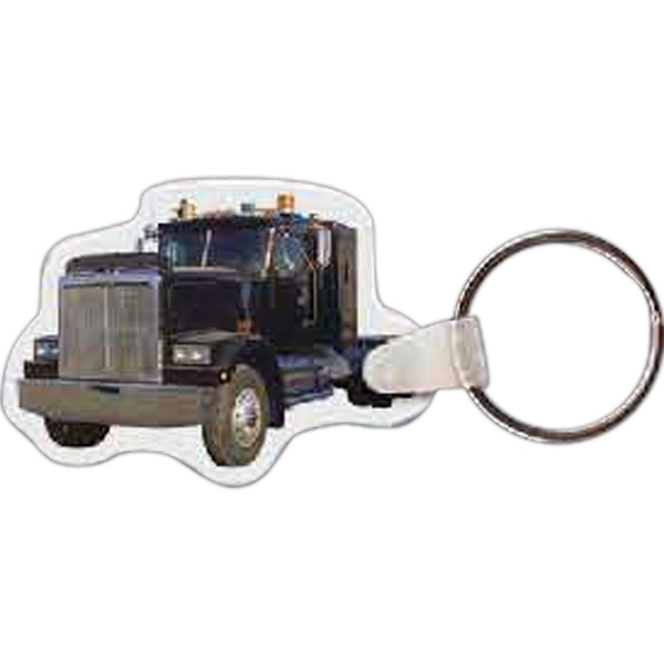 "2.15"" X 1.5"" - Truck Shaped Key Tag Photo"