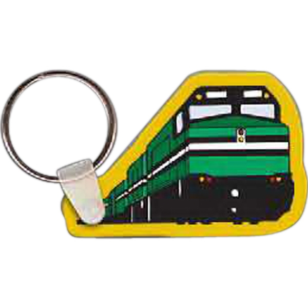"2.27"" X 1.54"" - Train Shaped Key Tag Photo"