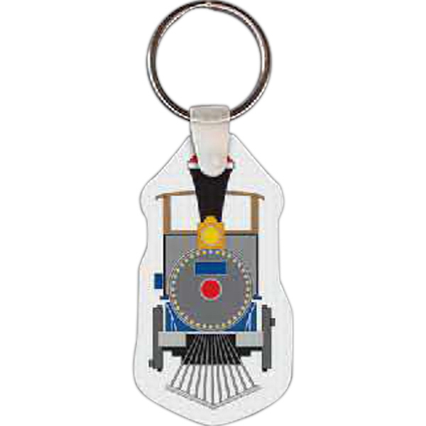 "1.37"" X 2.50"" - Train Shaped Key Tag Photo"