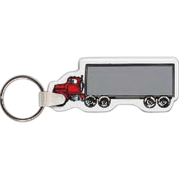 "3"" X 1"" - Truck Shaped Key Tag Photo"